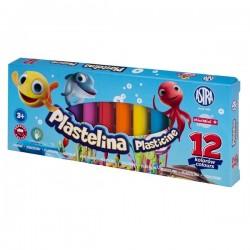 ASTRA Masa Plastyczna PLASTELINA 12 Kolorów 0634