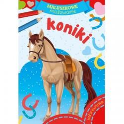 Skrzat Książeczki dla Dzieci Kolorowanka MALUSZKOWE MALOWANIE Koniki 8782