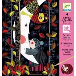 DJECO - 09720 - Scratch Art - Zestaw Artystyczny - Zdrapki - Wydrapywanka - NOC - BEZWIETRZNE NOCE