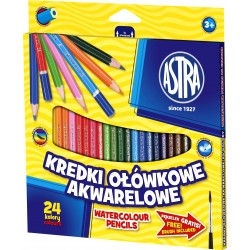 Astra Kredki Ołówkowe Akwarelowe 24 Kolory 0474