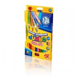 ASTRA Kredki Ołówkowe Tęczowe JUMBO 12 kolorów 2312