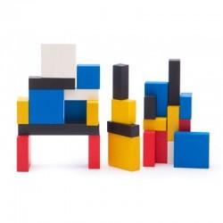 BAJO Mondrian Blocks Klocki Drewniane 96 Elementów 91020