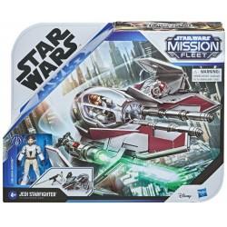 Hasbro Star Wars Mission Fleet MYŚLIWIEC JEDI STARFIGHTER + FIGURKA OBI-WAN KENOBI F1136