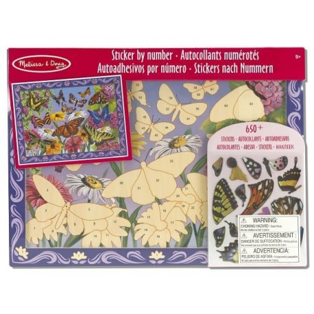 Melissa & Doug - 14302 - Mozaika do Wyklejania - Motyle