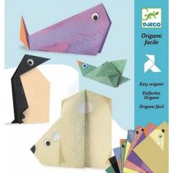 DJECO - 08777 - Zestaw Origami - Proste Origami - ORIGAMI ZWIERZĘTA ARKTYKI