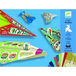 DJECO - 08760 - Zestaw Origami - Origami Samoloty - SAMOLOTY NOWOCZESNE