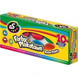 ASTRA Farby PLAKATOWE w Kubeczkach 10 Kolorów 20 ml 9258