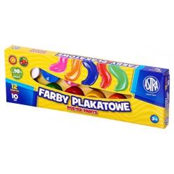 ASTRA Farby PLAKATOWE w Kubeczkach 12 Kolorów 10 ml 0539