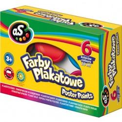 ASTRA Farby PLAKATOWE w Kubeczkach 6 Kolorów 20 ml 9234