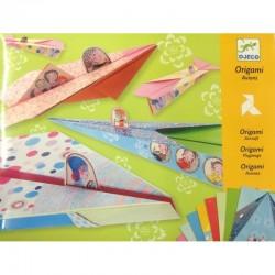 DJECO - 08769 - Zestaw Origami - Origami Samoloty - SAMOLOTY BAJKOWE