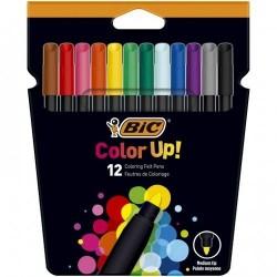 BIC Pisaki Zestaw Flamastrów 12 Kolorów COLOR UP! 9300