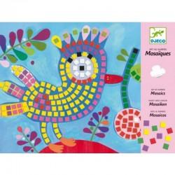 DJECO - 08894 - Zestaw Mozaik - Mozaika Przyklejana - MOZAIKA PTASZEK I BIEDRONKA