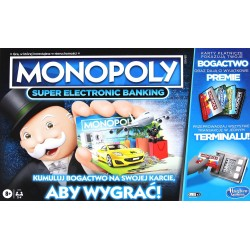 HASBRO Gra Monopoly Super Electronic Banking E8978
