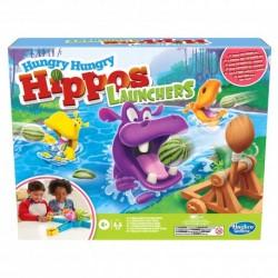 HASBRO Gra Zręcznościowa Hungry Hungry Hippos Głodne Hipopotamy z Wyrzutnią E9707