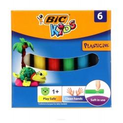 BIC Masa Plastyczna Plastelina BIC KIDS 6 Kolorów 5488