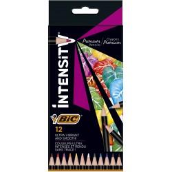 BIC Zestaw Kredek Kredki Ołówkowe INTENSITY 12 Kolorów 51968