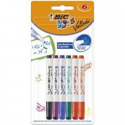 BIC Mini Markery Suchościeralne Do Tablicy VELLEDA 6 Kolorów 07426