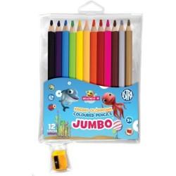 Astra Kredki Ołówkowe JUMBO 12 Kolorów 0566