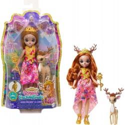 MATTEL Royal Enchantimals Lalka i Zwierzątko Queen Daviana i Grassy GYJ12