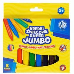 ASTRA Kredki Świecowe 8 Kolorów JUMBO 2930