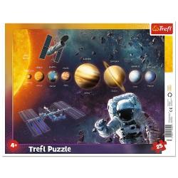TREFL Puzzle na Podkładce Puzzle Ramkowe 25 Elementów UKŁAD SŁONECZNY 31342