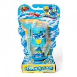 Magic Box Toys Super Zings Super Things Seria 7 BATTLE SPINNER FROZEN FLASH błękitny figurka 15377