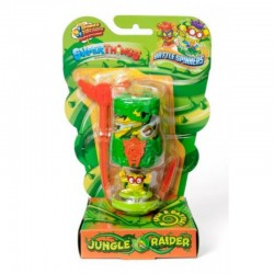 Magic Box Toys Super Zings Super Things Seria 7 BATTLE SPINNER JUNGLE RAIDER ciemnozielony figurka 15377