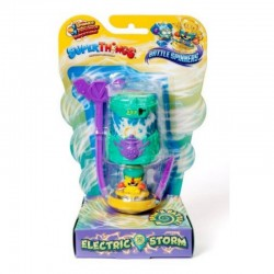 Magic Box Toys Super Zings Super Things Seria 7 BATTLE SPINNER ELECTRIC STORM turkusowy figurka 15377