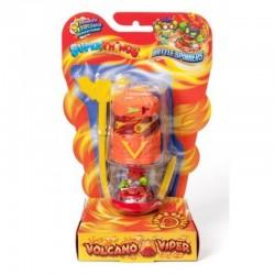 Magic Box Toys Super Zings Super Things Seria 7 BATTLE SPINNER VOLCANO VIPER pomarańczowy figurka 15377