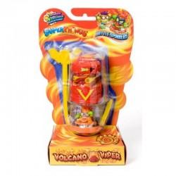 Magic Box Toys Super Zings Super Things Seria 7 BATTLE SPINNER VOLCANO VIPER czerwony figurka 15377