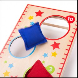 BIGJIGS TOYS Gra zręcznościowa z woreczkami Bullseye BJ33021