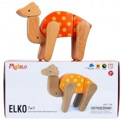 MALBLO ECO Drewniane Klocki ELKO 7w1 7748