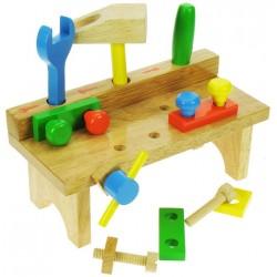 Bigjigs Toys - BJ319 - Drewniany Stolik Stolarza