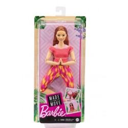Mattel Lalka Barbie Made to move ruda GXF07