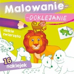 Skrzat Książeczki dla Dzieci Kolorowanka MALOWANIE-DOKLEJANIE Dzikie Zwierzęta 9970