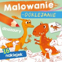 Skrzat Książeczki dla Dzieci Kolorowanka MALOWANIE-DOKLEJANIE Dinozaury 1139