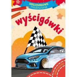 Skrzat Książeczki dla Dzieci Kolorowanka MALUSZKOWE MALOWANIE Wyścigówki 0019