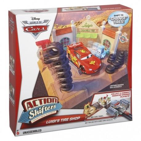 Mattel - BDF62 - Disney Pixar - Cars 2 - Chłodnica Górska - Salon z Oponami u Luigiego