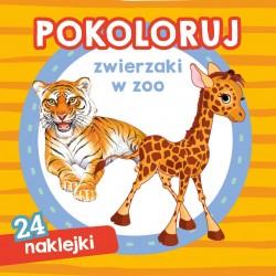 Skrzat Książeczki dla Dzieci Kolorowanka POKOLORUJ Zwierzaki w Zoo 9024