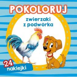 Skrzat Książeczki dla Dzieci Kolorowanka POKOLORUJ Zwierzaki z Podwórka 9017