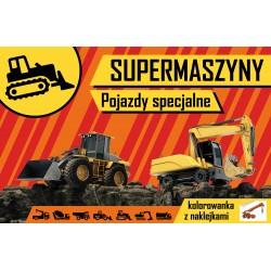 Skrzat Książeczki dla Dzieci Kolorowanka SUPERMASZYNY Pojazdy Specjalne 7181