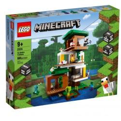 KLOCKI LEGO MINECRAFT Nowoczesny domek na drzewie 21174