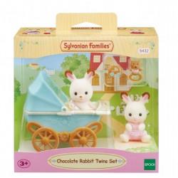 SYLVANIAN Wózek dziecięcy z figurkami królików bliźniaki 05432