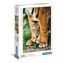 CLEMENTONI Układanka Puzzle 500 Elementów High Quality Collection TYGRYSEK TYGRYS BENGALSKI 35046