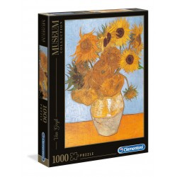 CLEMENTONI Układanka Puzzle 1000 Elementów Museum Collection VAN GOGH Słoneczniki Girasoli 31438