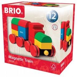 BRIO Klocki Magnetyczne Drewniany Pociąg Magnetyczny 30124