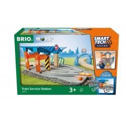 BRIO Smart Tech KOLEJKA DREWNIANA Stacja Serwisowa 33975