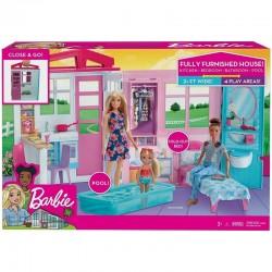Mattel Barbie DOMEK DLA LALEK Przytulny domek z wyposażeniem FXG54