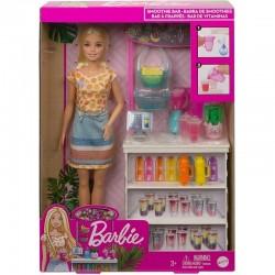 MATTEL Lalka Barbie + barek smoothie GRN75
