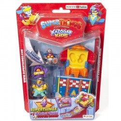 Magic Box Toys Super Zings Super Things Seria 8 ZESTAW 4 figurek + slider + rampa 16244